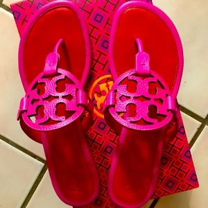 Tory Burch Miller Imperial Pink Sandals Size 9